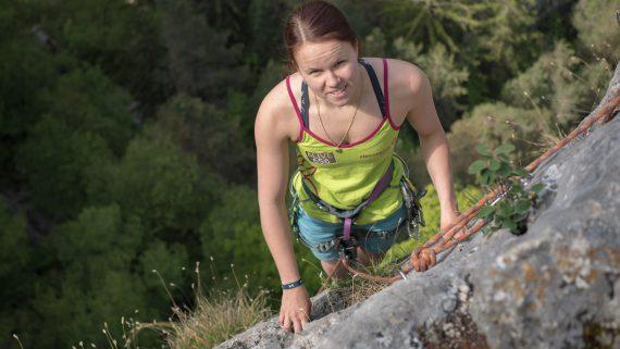 """""""Dank dem ALIVE 656 EMS-Personal Training kann ich endlich wieder klettern."""" Foto: Jacqueline Sabutsch"""
